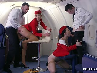 Alexis Crystal and Misha Cross are VIP stewardesses who were hired to reach wholeness to please dudes